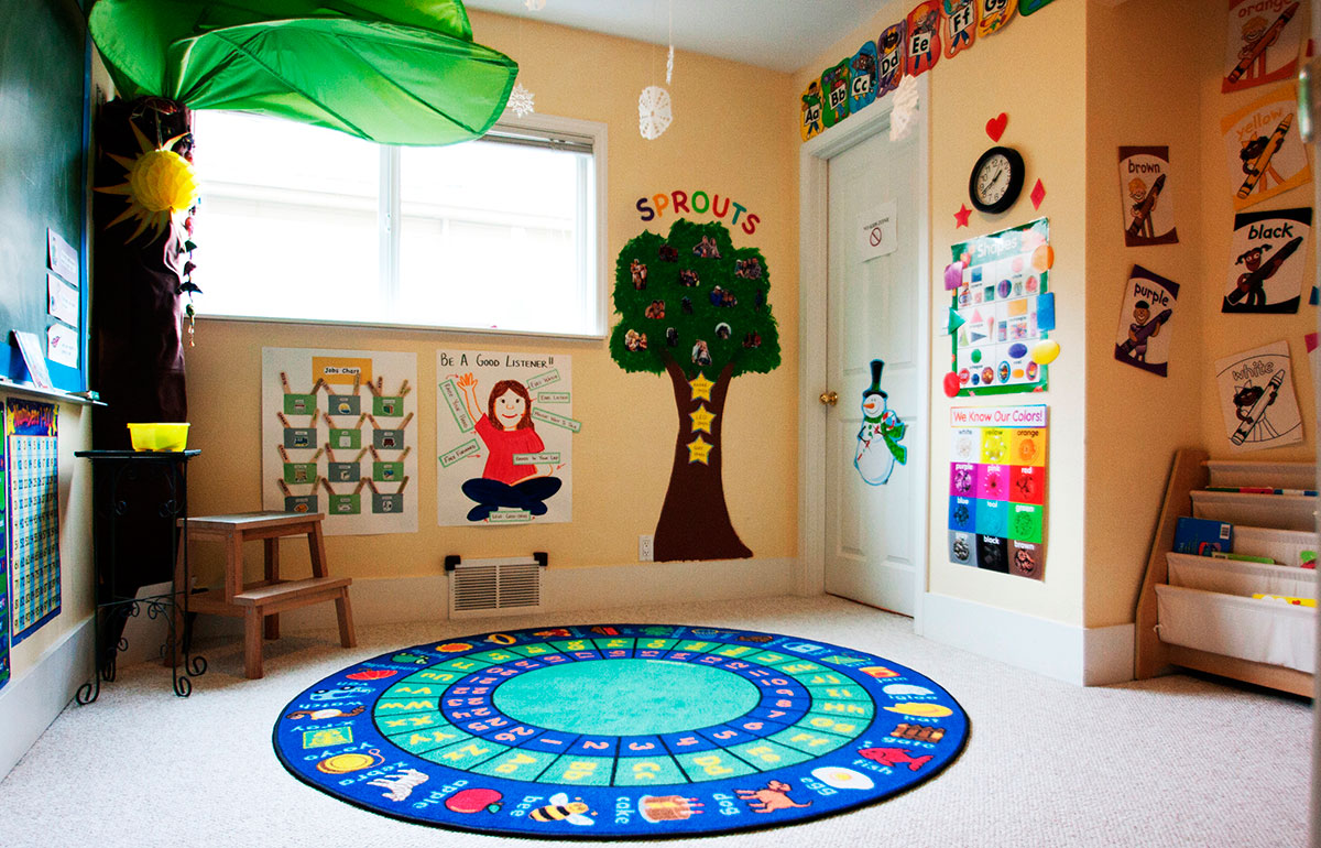 Buds and Sprouts Program Circle Carpet Room
